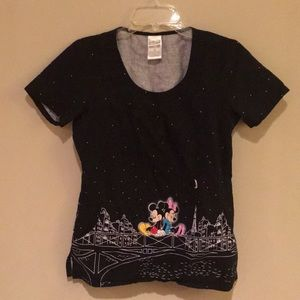 DISNEY Mickey and Minnie scrub top size: x-small